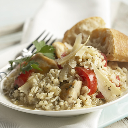 Chicken and Basil Risotto
