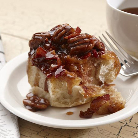 Chipotle and Bacon Pecan Rolls
