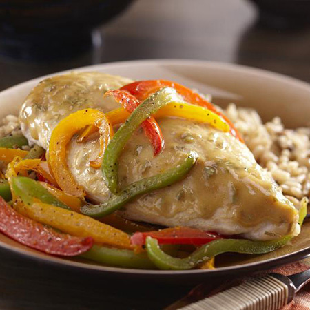 Dijon Glazed Chicken with Peppers