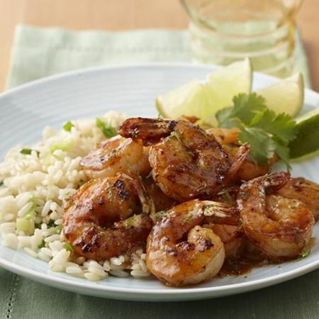 Margarita Glazed Shrimp